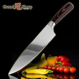 Couteau en Acier Inoxydable  Poignée Style Pakka