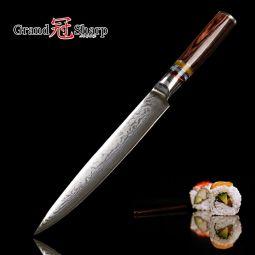 Couteau à Trancher Traditionnel Japonais  Damas 67 Couches